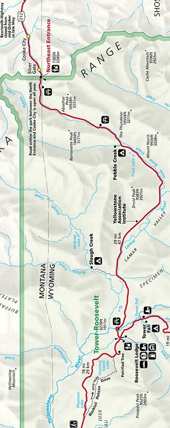 Lamar River Fly Fishing Map