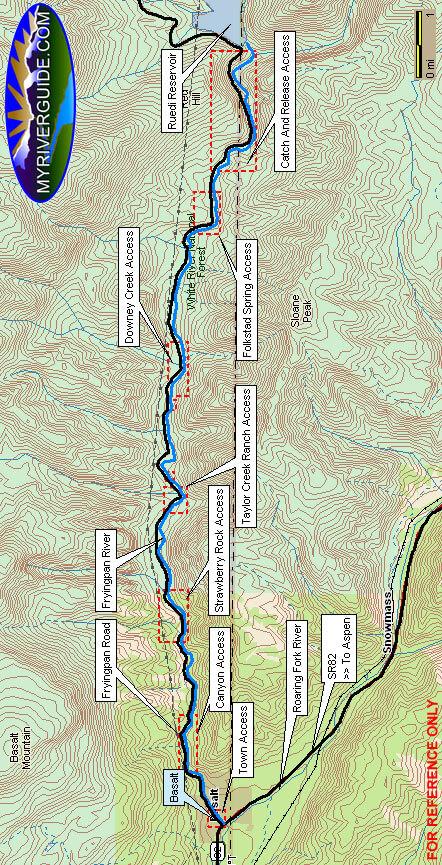 Fryingpan River Fly Fishing Map