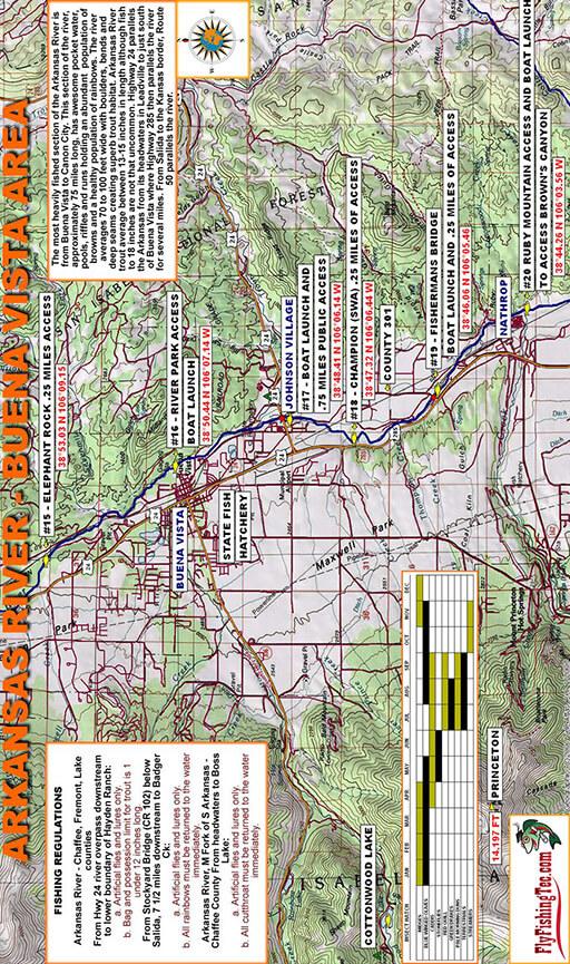 Arkansas River - Buena Vista Fly Fishing Map