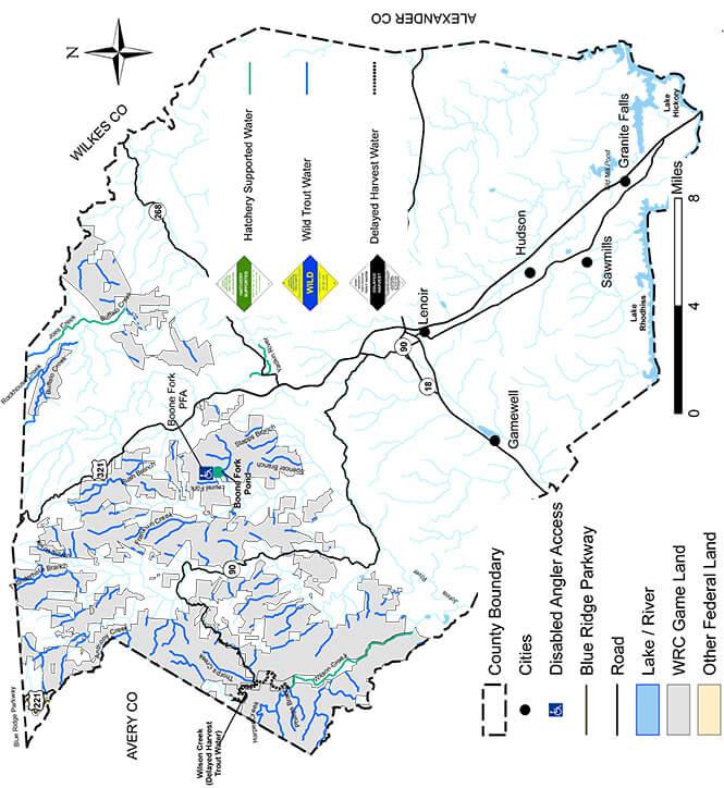 Elk Creek Fly Fishing Map