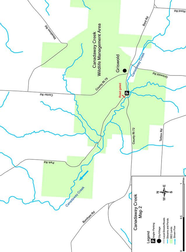 Canadaway Creek Fly Fishing Map