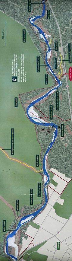 Tongariro River Fly Fishing Map