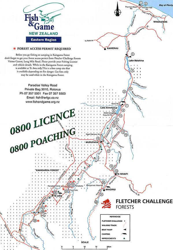 Rangitaiki River Fly Fishing Map