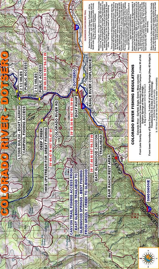 Colorado River - Dotsero Fly Fishing Map