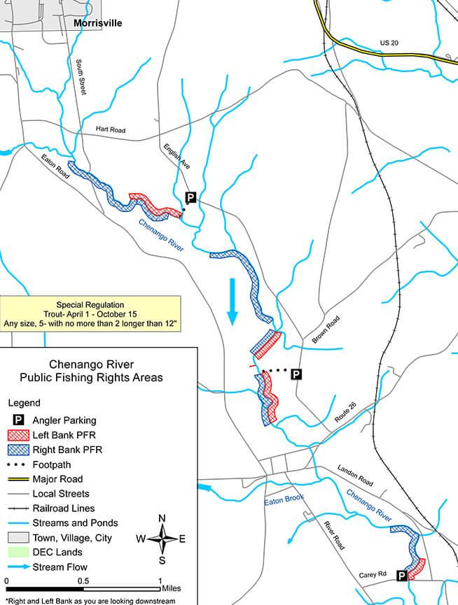 Chenango River Fly Fishing Map