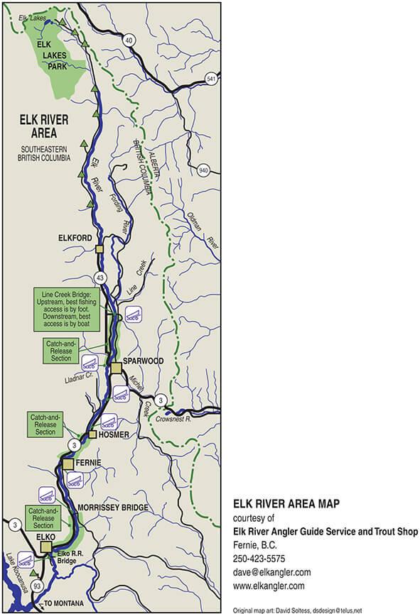 Elk River Fly Fishing Map