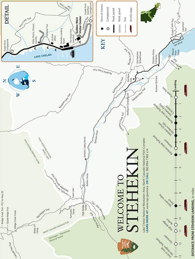 Stehekin River Fly Fishing Map